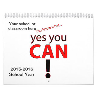 Customizable 2015-2016 School Printed Calendar