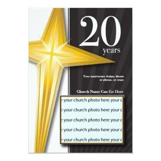 Customizable 20 Year Church Anniversary Card