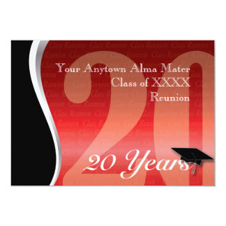 Customizable 20 Year Class Reunion Card