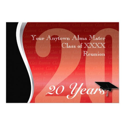 Customizable 20 Year Class Reunion Personalized Invites
