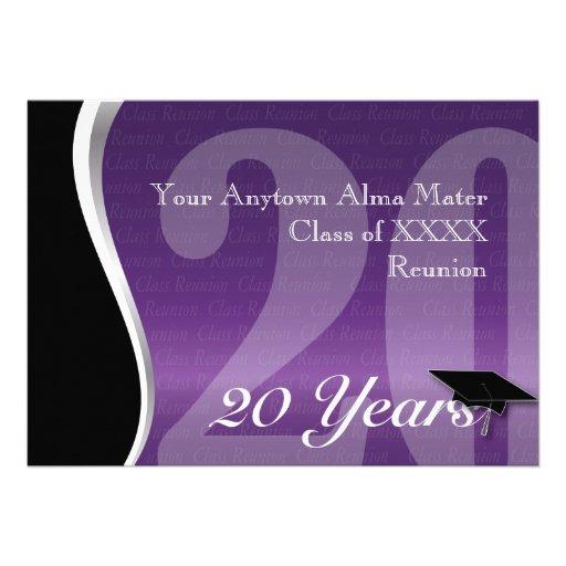 Customizable 20 Year Class Reunion Invite