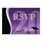 Customizable 20 Year Class Reunion RSVP Card