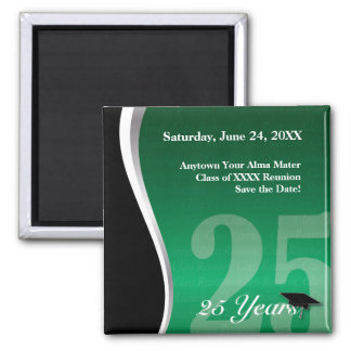 Customizable 25 Year Class Reunion 2 Inch Square Magnet