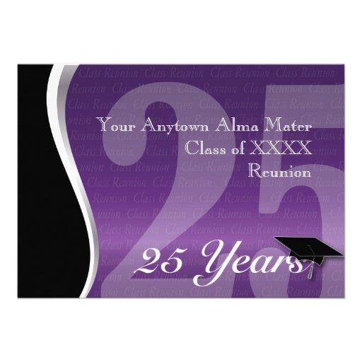 Customizable 25 Year Class Reunion Announcements