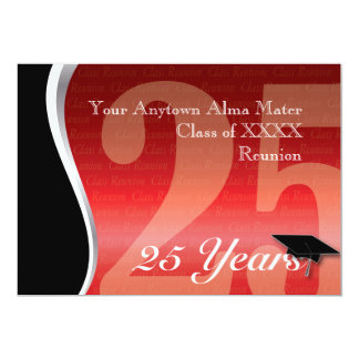 Customizable 25 Year Class Reunion Card