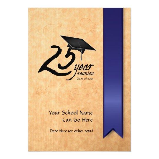 Customizable 25 Year Class Reunion Invitation