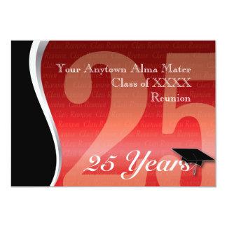 Customizable 25 Year Class Reunion 5x7 Paper Invitation Card