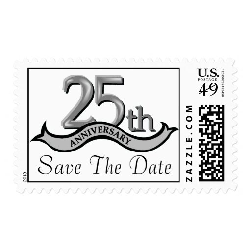 Customizable 25th Anniversary Postage