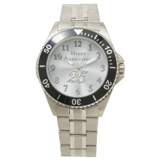 Customizable 25th Anniversary Watches YOUR TEXT