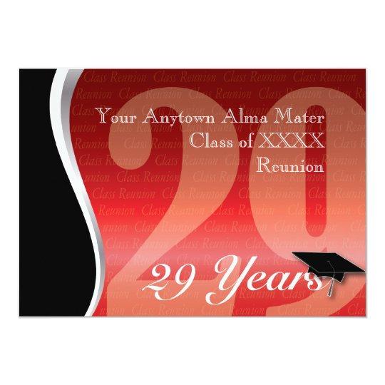 Customizable 29 Year Class Reunion Card