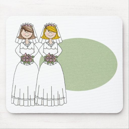 Customizable 2 Brides Wedding Tees and Gifts Mousepad