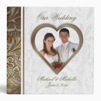 Customizable 2 Inch Photo Wedding Album 3 Ring Binder