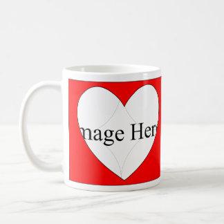 Customizable 2 Photo, Hearts 11oz Classic Mug