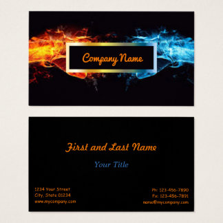 Fire And Ice Business Cards Templates Zazzle - 2 sided business card template