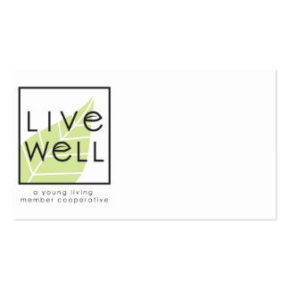 Customizable, 2-Sided Live Well Business Card