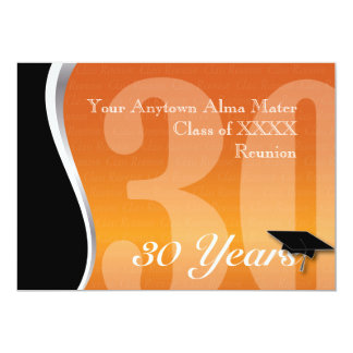 Customizable 30 Year Class Reunion Card