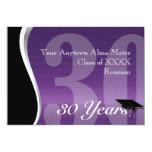 Customizable 30 Year Class Reunion 5x7 Paper Invitation Card
