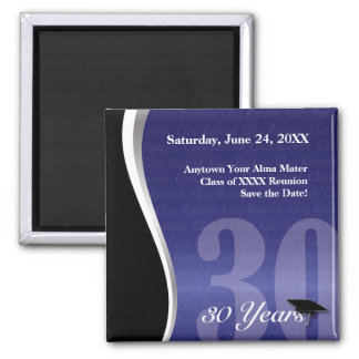 Customizable 30 Year Class Reunion 2 Inch Square Magnet