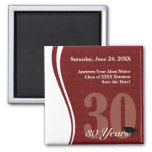 Customizable 30 Year Class Reunion Refrigerator Magnets