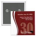 Customizable 30 Year Class Reunion Pin