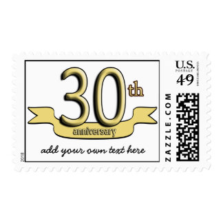 Customizable 30th Anniversary Postage