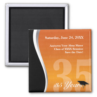 Customizable 35 Year Class Reunion 2 Inch Square Magnet