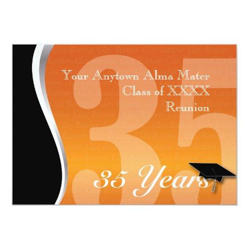 Customizable 35 Year Class Reunion 5x7 Paper Invitation Card
