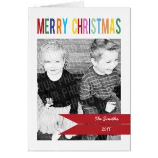 Customizable 3 Photo Christmas Card