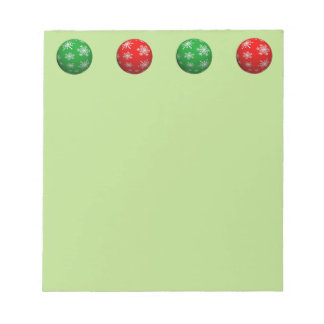 Customizable 3D Christmas Balls Notepad