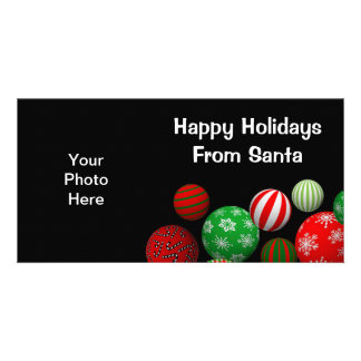 Customizable 3D Christmas Balls Picture Card