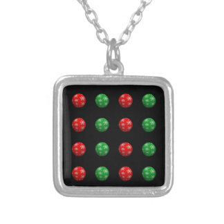 Customizable 3D Christmas Balls Silver Plated Necklace