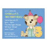 Customizable 3rd Birthday Puppy Dog Custom Invite