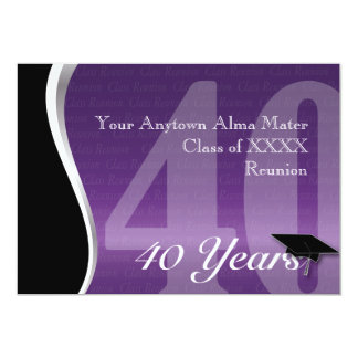 Customizable 40 Year Class Reunion Card