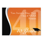 Customizable 40 Year Class Reunion 5x7 Paper Invitation Card