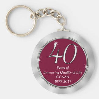 Customizable 40th Anniversary Gift Ideas Your Text Keychain