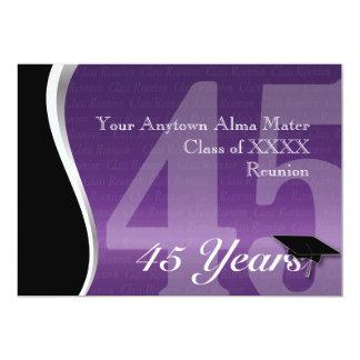 Customizable 45 Year Class Reunion Card