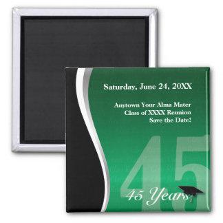 Customizable 45 Year Class Reunion Fridge Magnets