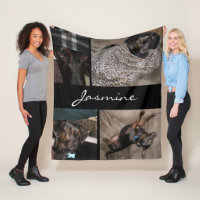 Customizable 4 Photos | Fleece Dog Blanket