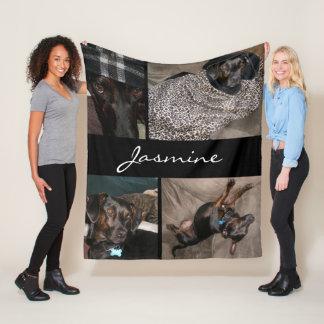 Customizable 4 Photos | Fleece Dog Blanket