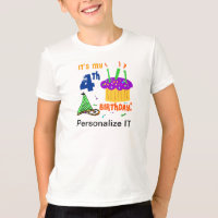 Customizable 4th Birthday T-shirt