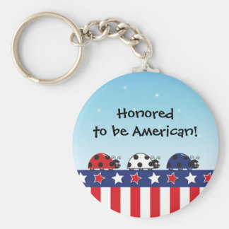 Customizable 4th of July Keychain