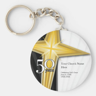 Customizable 50 Year Church Anniversary Keychain