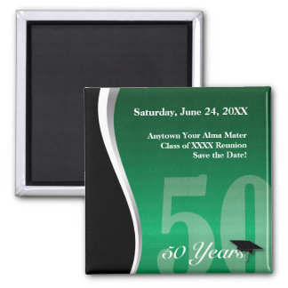 Customizable 50 Year Class Reunion 2 Inch Square Magnet