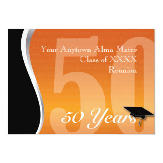Customizable 50 Year Class Reunion Card