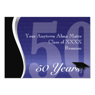 Customizable 50 Year Class Reunion 5x7 Paper Invitation Card