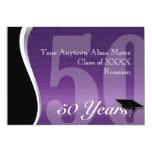 Customizable 50 Year Class Reunion 5x7 Paper Invitation Card