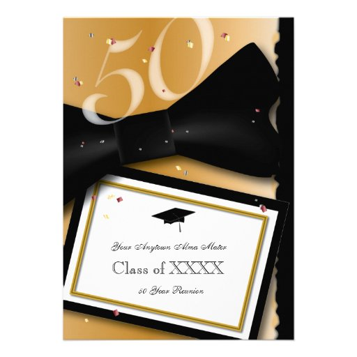 Customizable 50 Year Class Reunion Personalized Invite