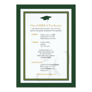 Class Reunion Invitations Zazzle