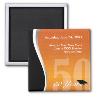 Customizable 50 Year Class Reunion Magnets