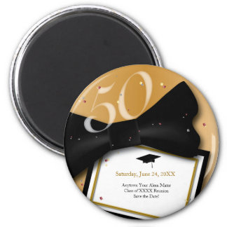Customizable 50 Year Class Reunion Save the Date 2 Inch Round Magnet